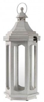 holzlaterne katmandu wei h he 48 cm diese laterne aus. Black Bedroom Furniture Sets. Home Design Ideas