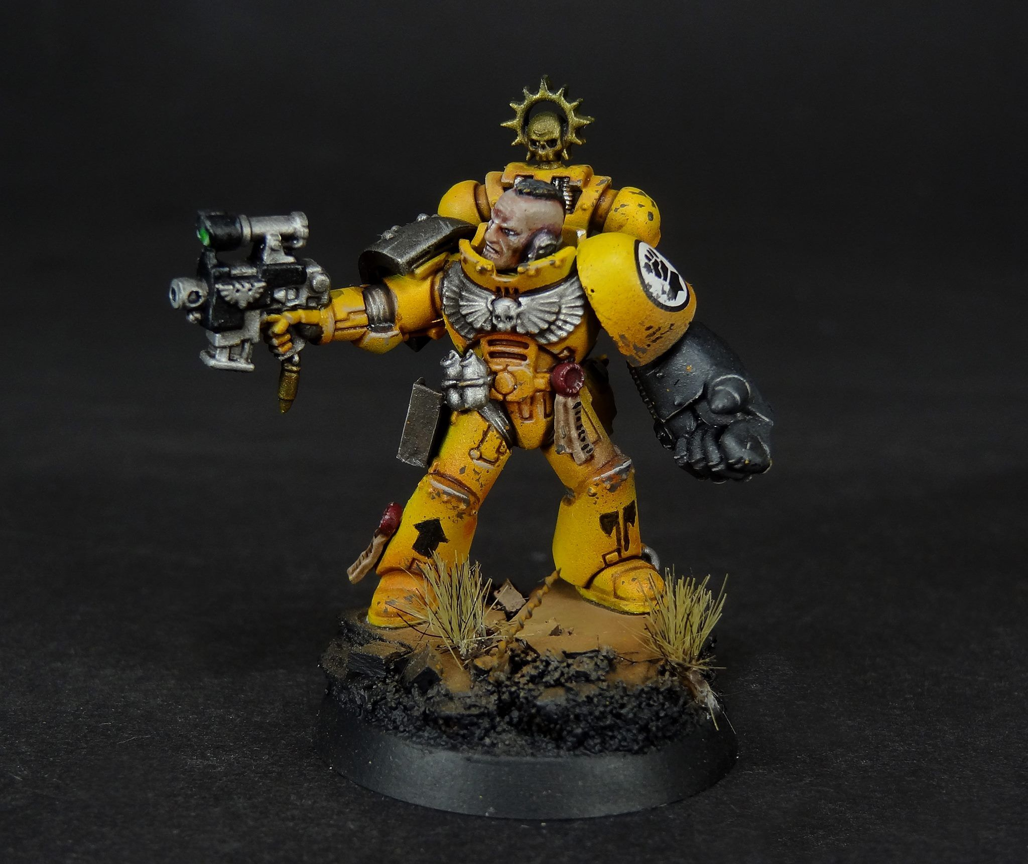 Imperial fists by dave paints astartes legion vii imperial fists pinterest warhammer 40k - Imperial fists 40k ...