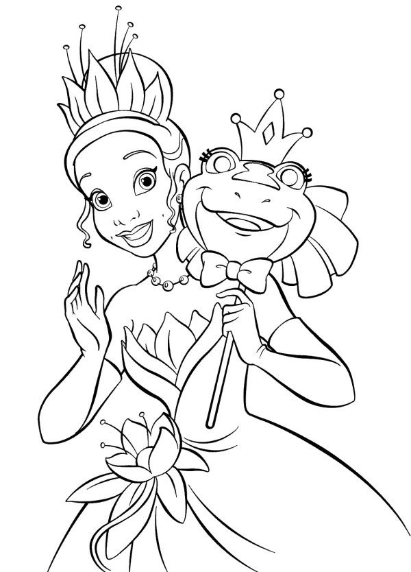 Princess Tiana Coloring Picture Disney Princess Coloring Pages