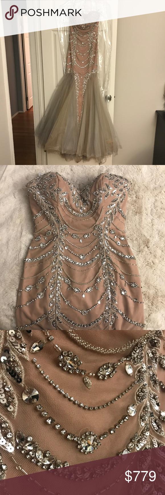 Sherri Hill Embellished Mermaid Dress Sherri Hill Embellished Mermaid Dress Blush Tan Color Bodice With Taupe And M Dresses Mermaid Prom Dresses Mermaid Dress [ 1740 x 580 Pixel ]