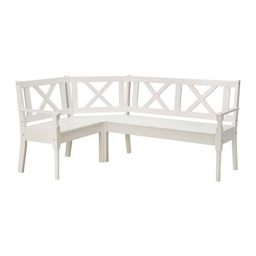 IKEA FRITTORP Corner Bench White Solid Beech Is A Hardwearing Natural  Material.