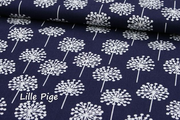 Dänische stoffe  Beschichtete Baumwolle Blumen&Herzen, lilablau | Dänisch ...