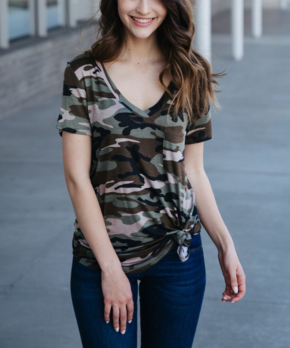 Take a look at this Camo V-Neck Tunic today!