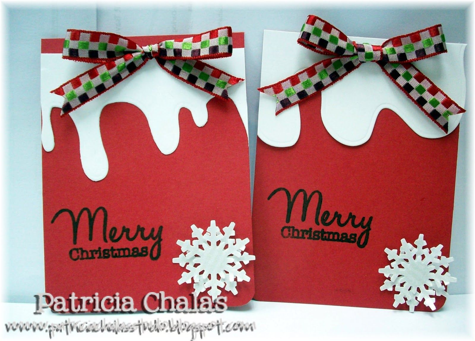 christmas craft tag images   made a pair of Red and a pair of Green which were the color of the ...