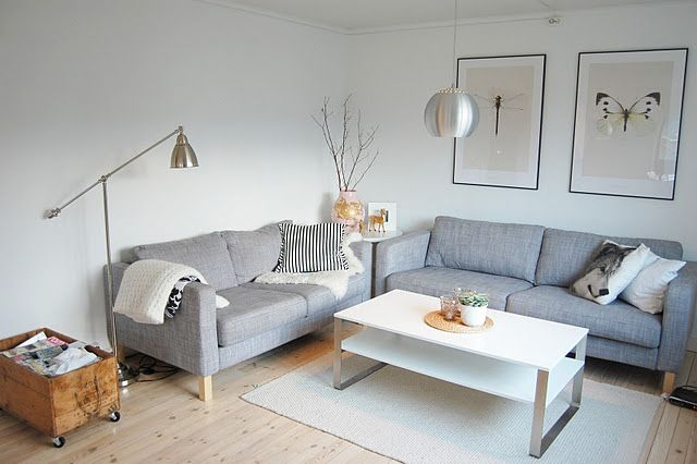 2 2er ikea karlstad sofas nebeneinander auch cool wohnzimmer pinterest grey sectional. Black Bedroom Furniture Sets. Home Design Ideas