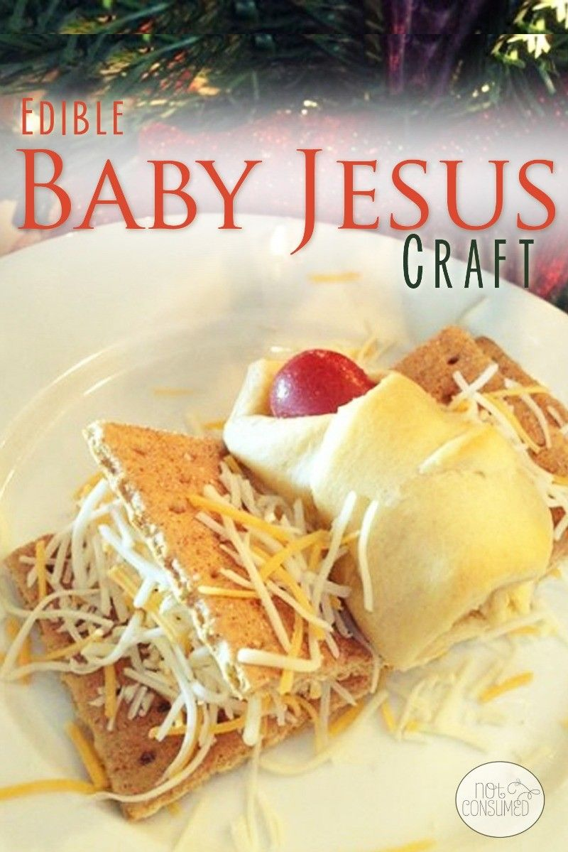 Edible Christmas Craft Ideas Part - 23: Edible Baby Jesus Craft