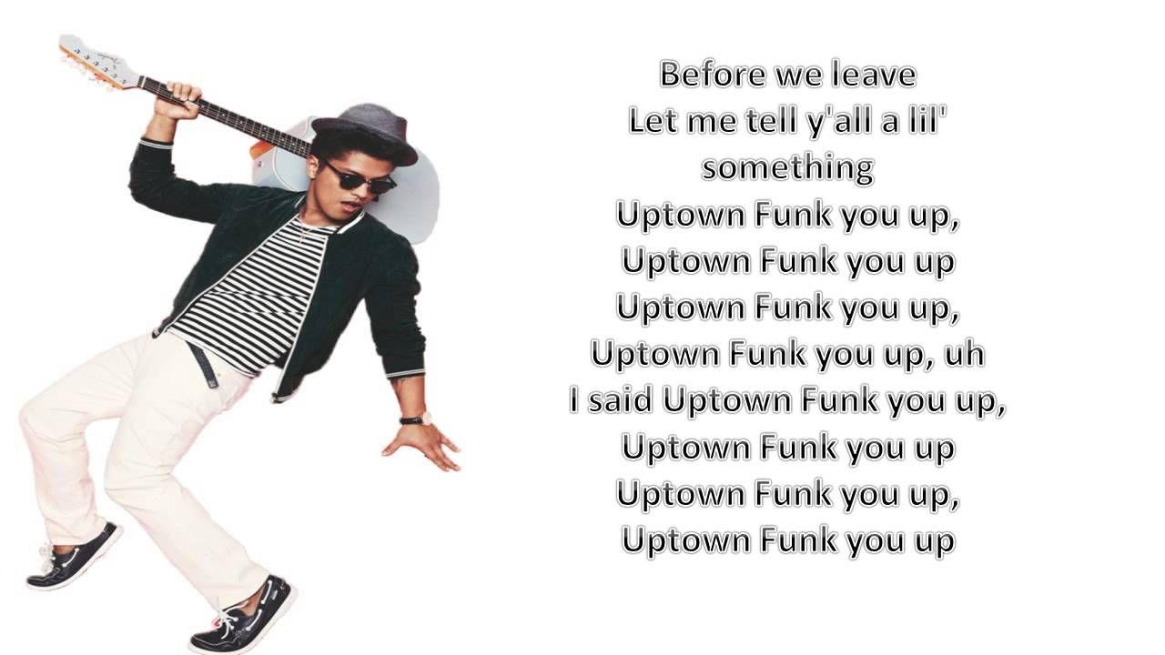 Mark Ronson Ft Bruno Mars Uptown Funk Lyrics Video Uptown Funk Lyrics Uptown Funk Lyrics Videos