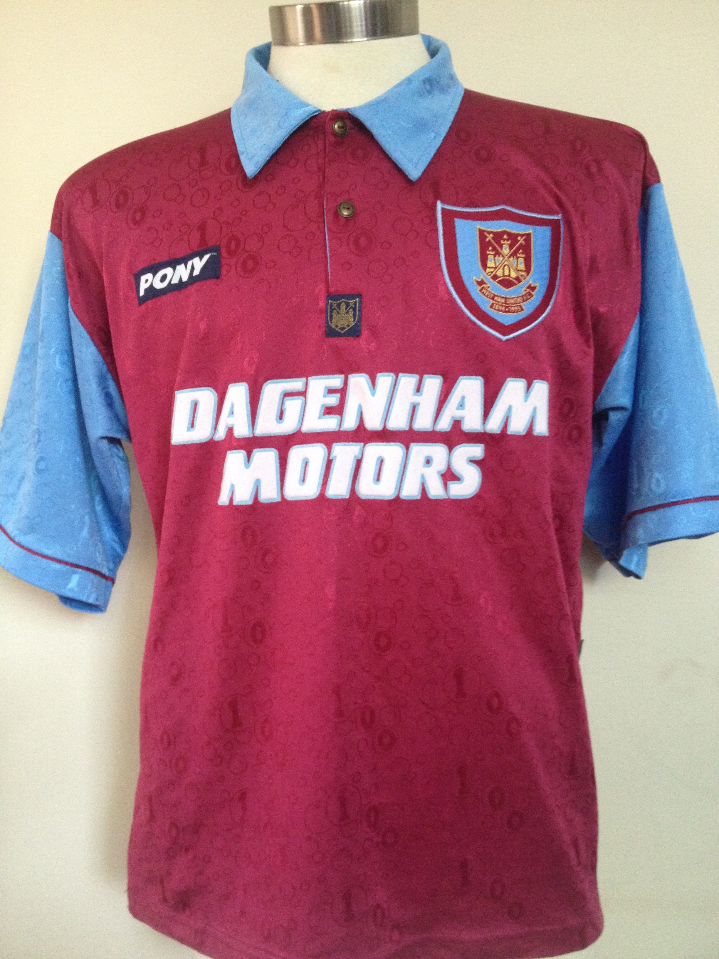 West Ham United. Home 1995 - 1997.  hammers  pony  8bdd6d8535202