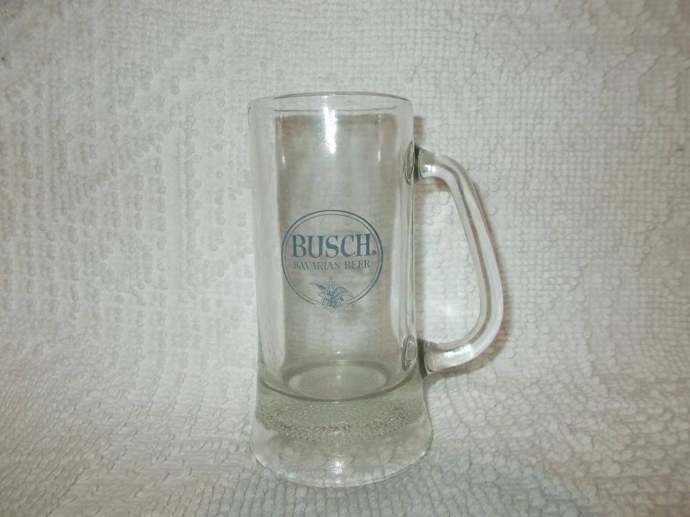 Busch bavarian beer vintage glass stein mug ebay