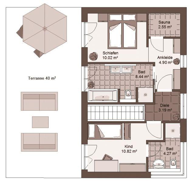 stadtvilla geno livingstar 19 haus grundriss bauen. Black Bedroom Furniture Sets. Home Design Ideas