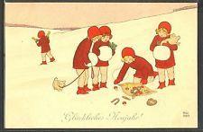 JZ191 MM VIENNE a/s EBNER ENFANTS en ROUGE COCHON CHILDREN in RED PIG CHAMPAGNE