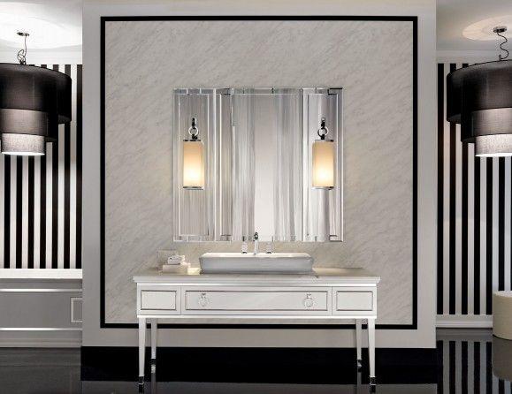 Lutetia L3 Luxury Italian Bathroom Furniture In White Lacquered Stunning Bathroom Vanities Luxury Design Ideas