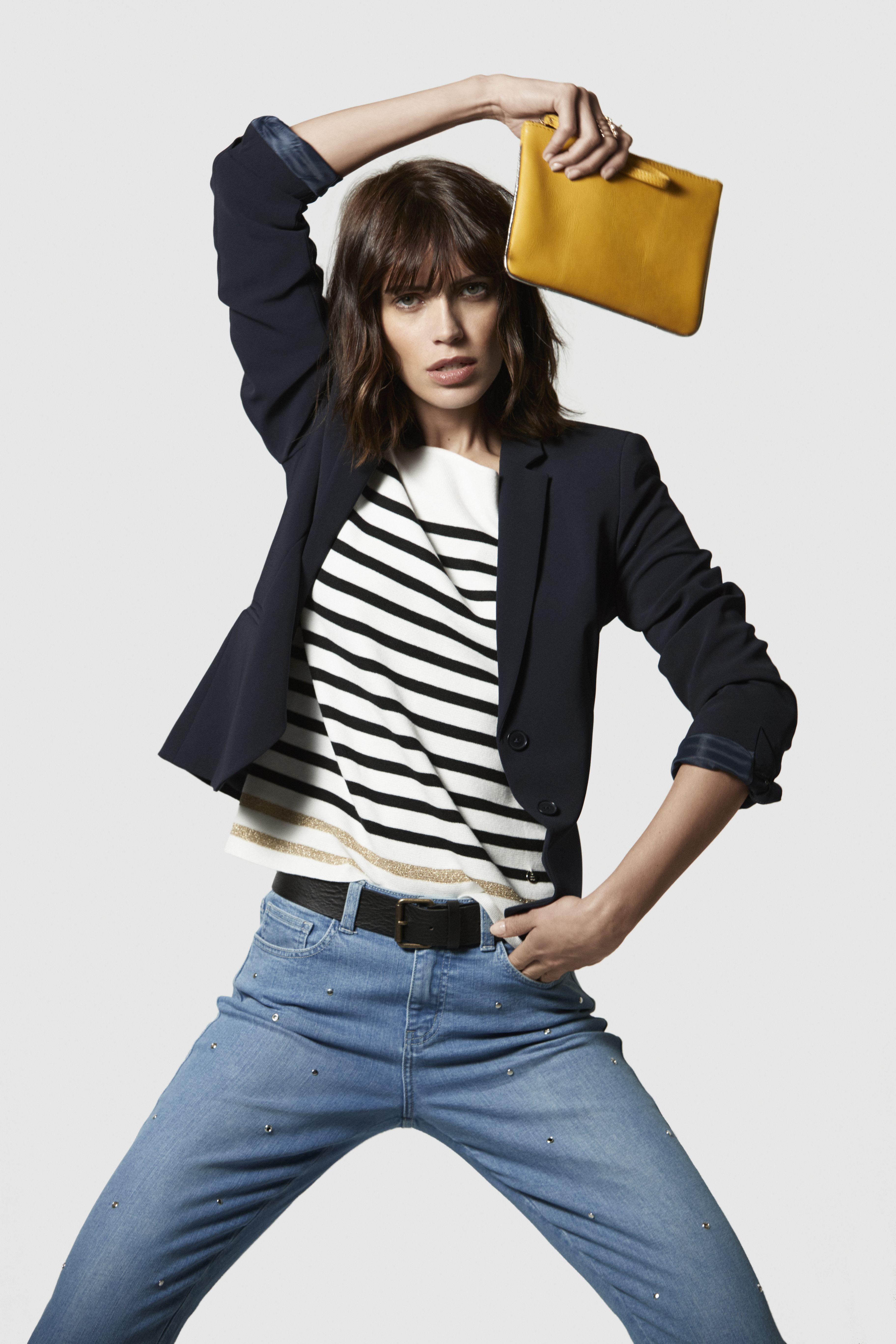 f193213d20 1.2.3 Paris - Collection printemps-été 2018 - Veste EVE - Pull NAUTIQUE -  Jean VENDOME - Ceinture ROY - Pochette DROOPY #123paris #mode #fashion  #shopping ...