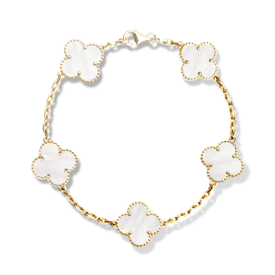 alhambra yellow square onyx mother magic bracelet and van en gold collector cleef vca arpels of in jewels pearl