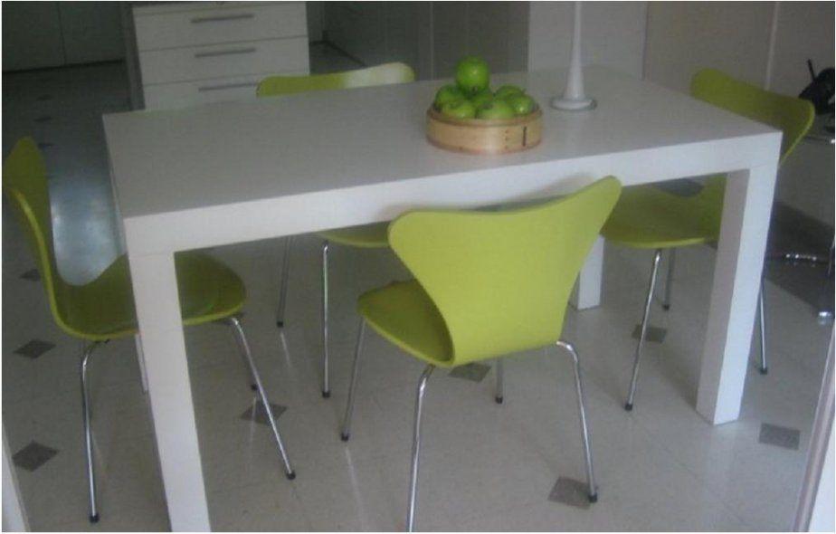 mesa de comedor laqueada blanca