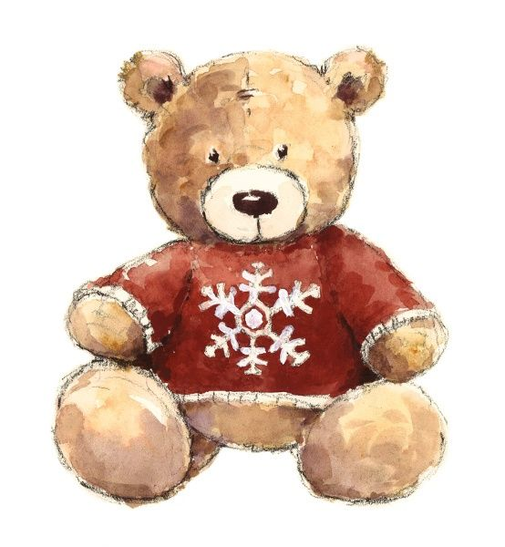Watercolor Illustrations Of Teddy Bear Teddy Bear Drawing Bear Paintings Teddy Bear Pictures