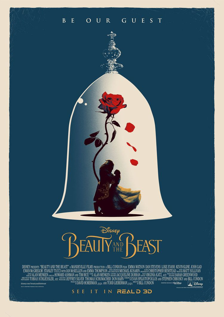 Beauty And The Beast 2017 Alternative Movie Poster By Matt