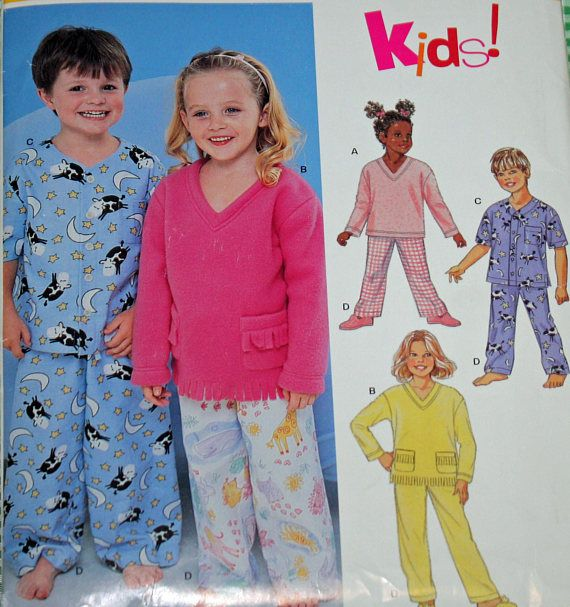 New Look 6131 Sewing Pattern Pajama Pattern Boys And Etsy