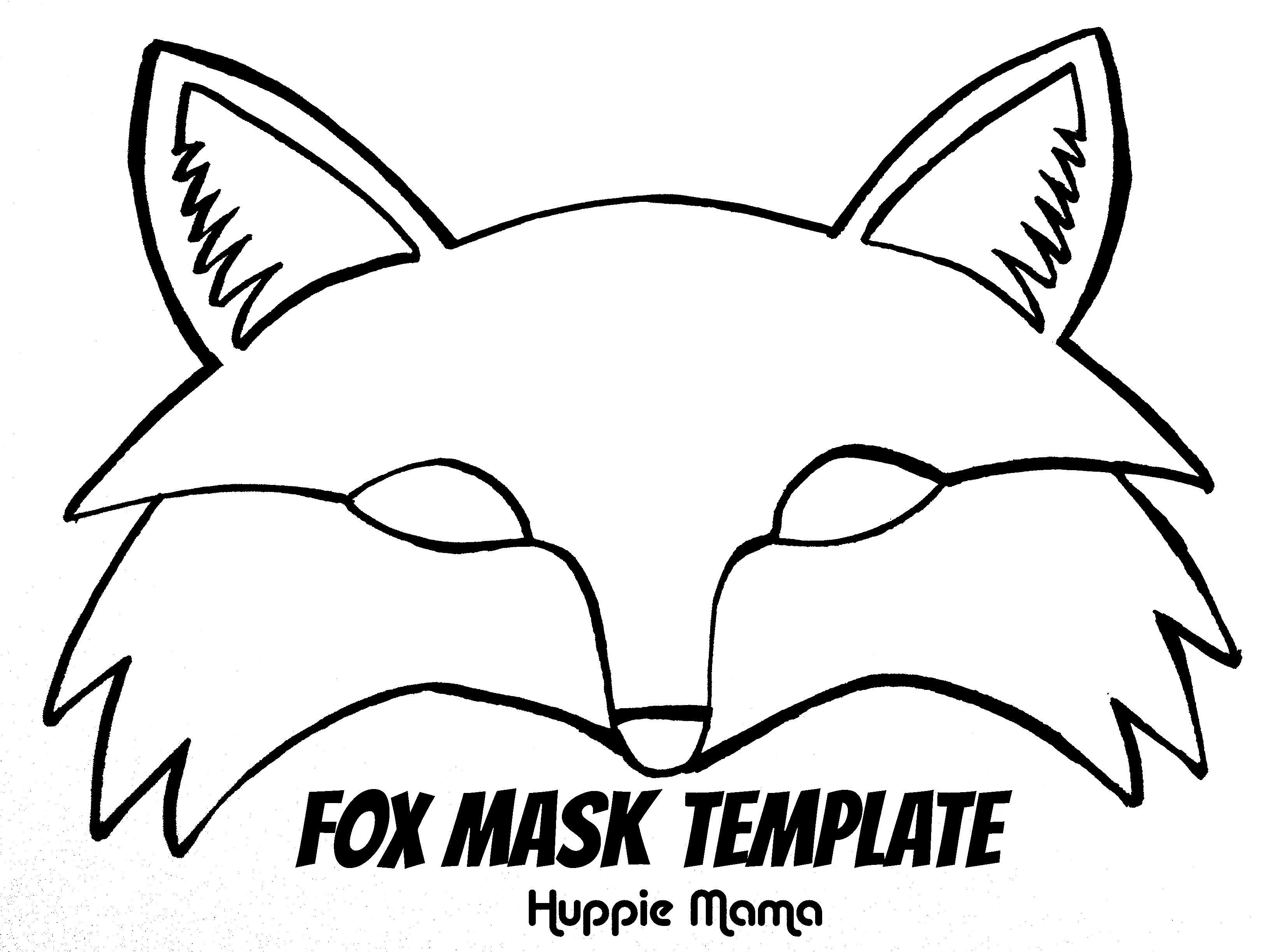 Fox template fox mask template foxy fox pinterest for Woodland animal masks template