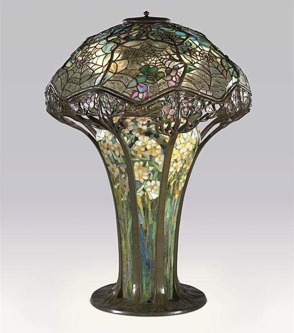 Google Image Result for http://www.thehistoryblog.com/wp-content/uploads/2010/05/Tiffany-Cobweb-lamp-by-Clara-Driscoll.JPG