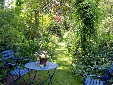 Salon Bleu Jardin Des Lianes Jardins Champetres Petits Jardins Jardins