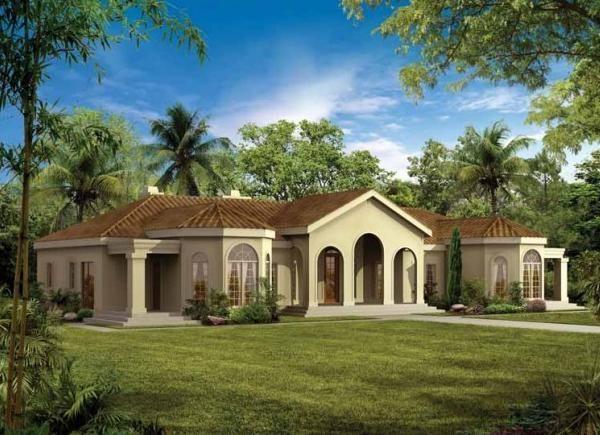 Resultado De Imagen Para Frente Casa Con Arcos Mediterranean Homes Mediterranean Style House Plans Mediterranean House Plans