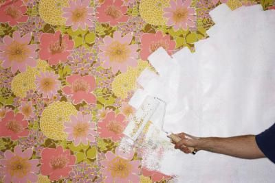 How to Cover Wallpaper on the Walls   Painting over ...