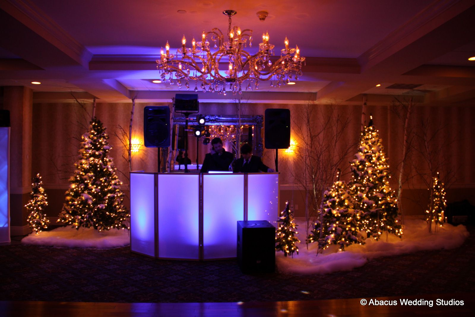 Winter Wonderland Themed Wedding Held At The Sterling Ballroom In