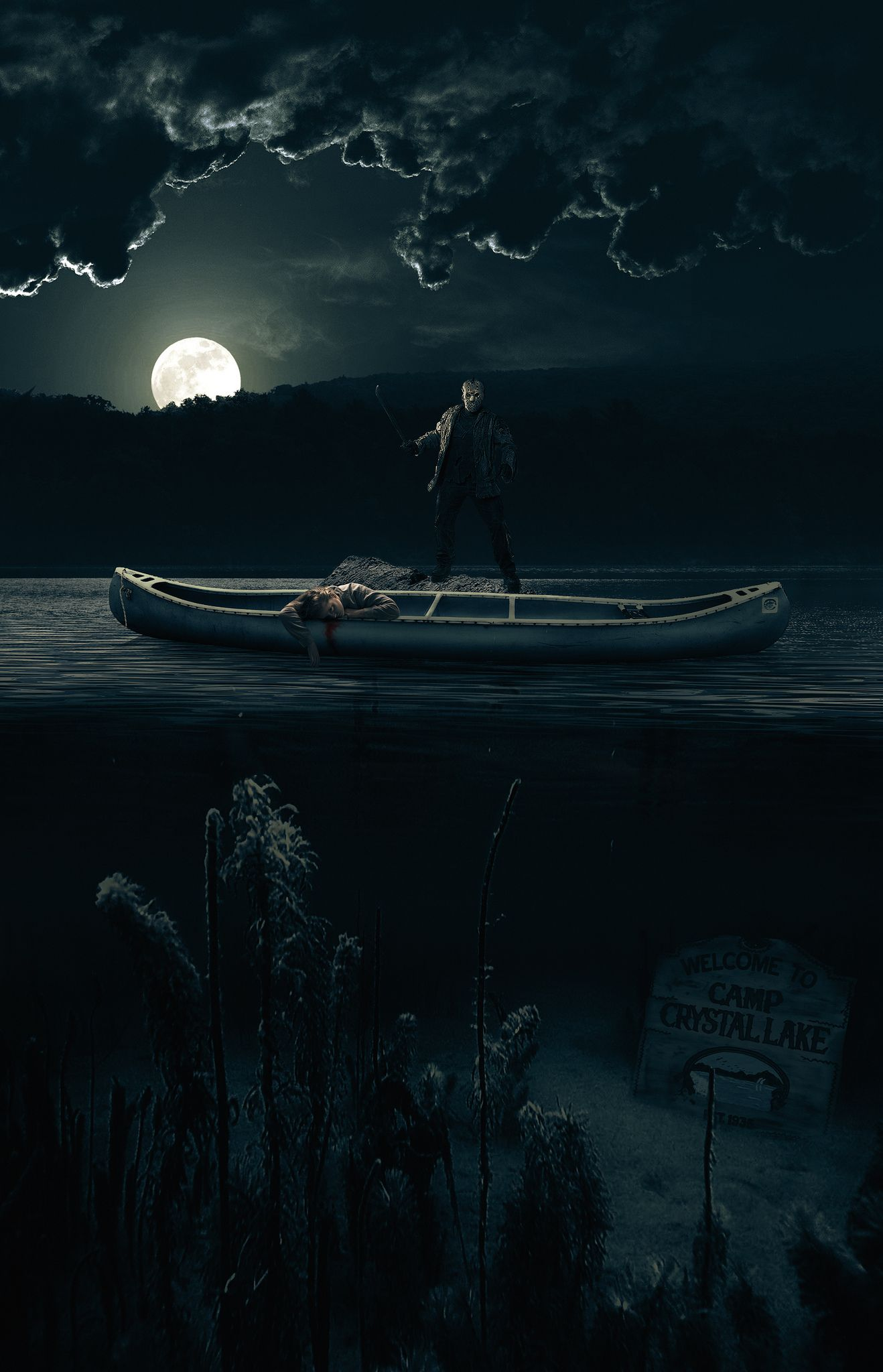 Image result for friday the 13th crystal lake poster