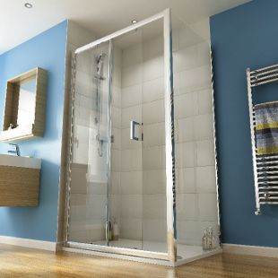 Wickes 1200 X 800mm Rectangular Slider Semi Frameless Shower Enclosure Chrome Frameless Shower Enclosures Shower Enclosure Frameless Shower