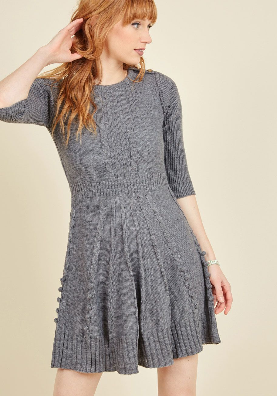 cfca2bf3332 Warm Cider Sweater Dress in Ash. For a festive evening
