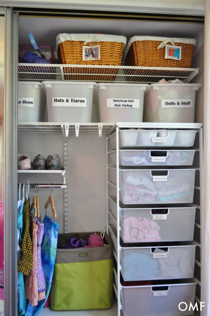 How I want my closet to look when I'm done with it....Of course it won't contain tiaras and American Girl Dolls.