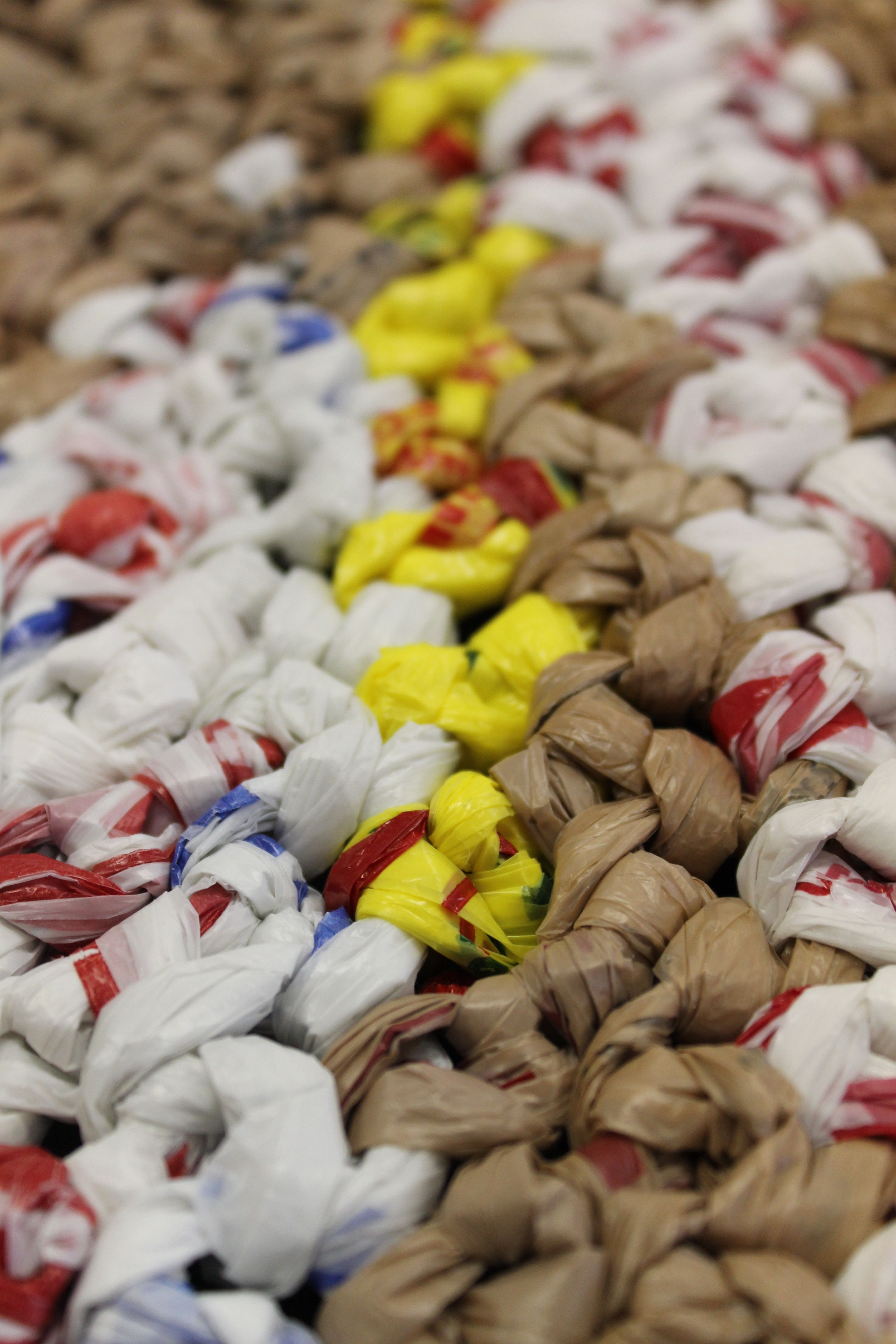 Crochet recycled plastic bags - Crocheting Plastic Bags Into Mats For The Homeless Or People In 3rd World Countries