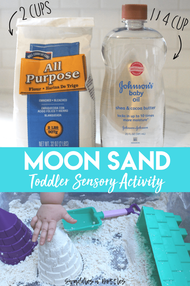 2 Ingredient Moon Sand Recipe #toddlercrafts