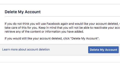 Close Fb Account Permanently Social Media Guide Deactivate Facebook Delete Facebook