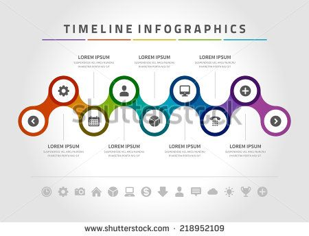 Time line infographic and icons vector design template. For web ...