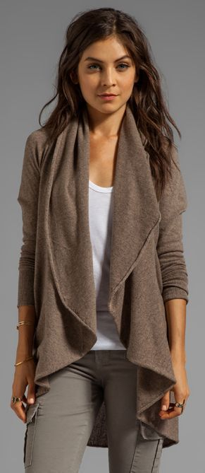 Autumn Cashmere Tunic Cardigan | Capsule Winter Wardrobe ...