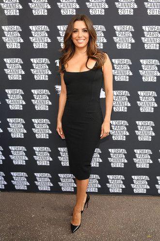f3212136aac dress bodycon dress midi dress black dress cannes pumps eva longoria shoes  black celebrity celebstyle for less red carpet red carpet dress party party  dress ...