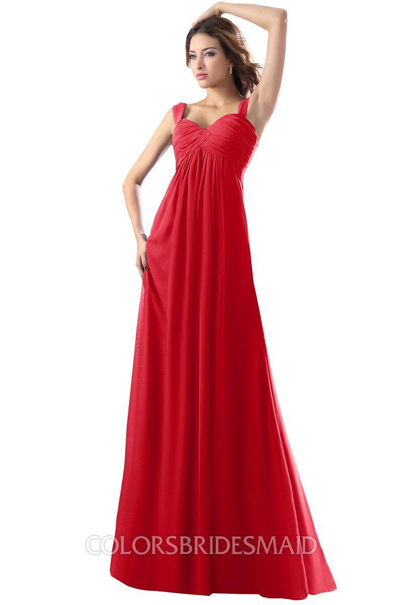52c0525c8b2 ColsBM Diana Modest Empire Thick Straps Zipper Floor Length Ruching Prom  Dresses  colsbm  bridesmaids  bridesmaiddress  weddings .