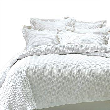 Abode Deluxe Waffle Duvet Cover Set Briscoes Nz Duvet Cover Sets White Bedroom Set Furniture Duvet Covers