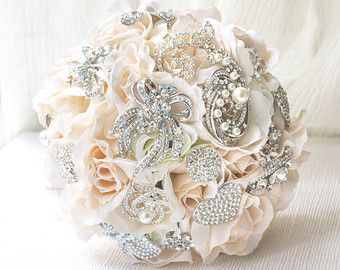 blush brooch bouquet - Google Search