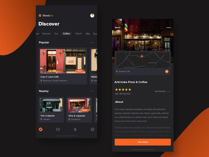 Stood.co Food Store Finder App