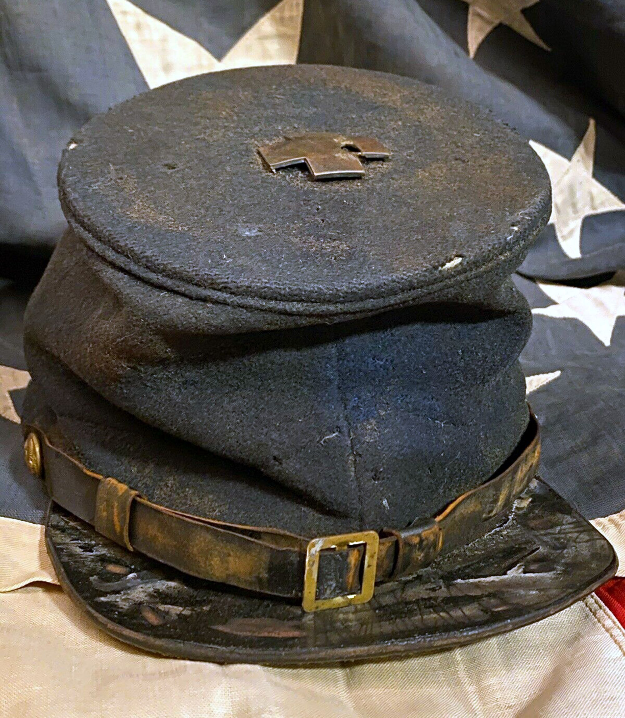 Black Mens Civil War Cap Grey NWT New York Hat Co