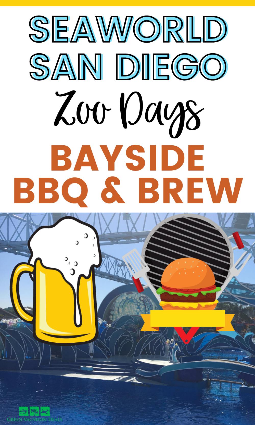 SeaWorld Zoo Days: Bayside BBQ & Brew is a new event at SeaWorld San Diego theme park in Southern California. Enjoy animal exhibitions & presentations, live music, BBQ dishes (St. Louis BBQ Ribs, pork slider, Chicken Quesadilla, Salmon, etc.) & local craft beer, wine & cocktails #SanDiego #SeaWorld #SeaWorldSanDiego #BBQ #Beer #SouthernCalifornia #Miramar #LA #Escondido #Coronado #SoCal #LosAngeles #craftbeer #localbeer #SolanaBeach #PasoRobles #SanDiegoCalifornia #Carlsbad #ChulaVista #barbeque