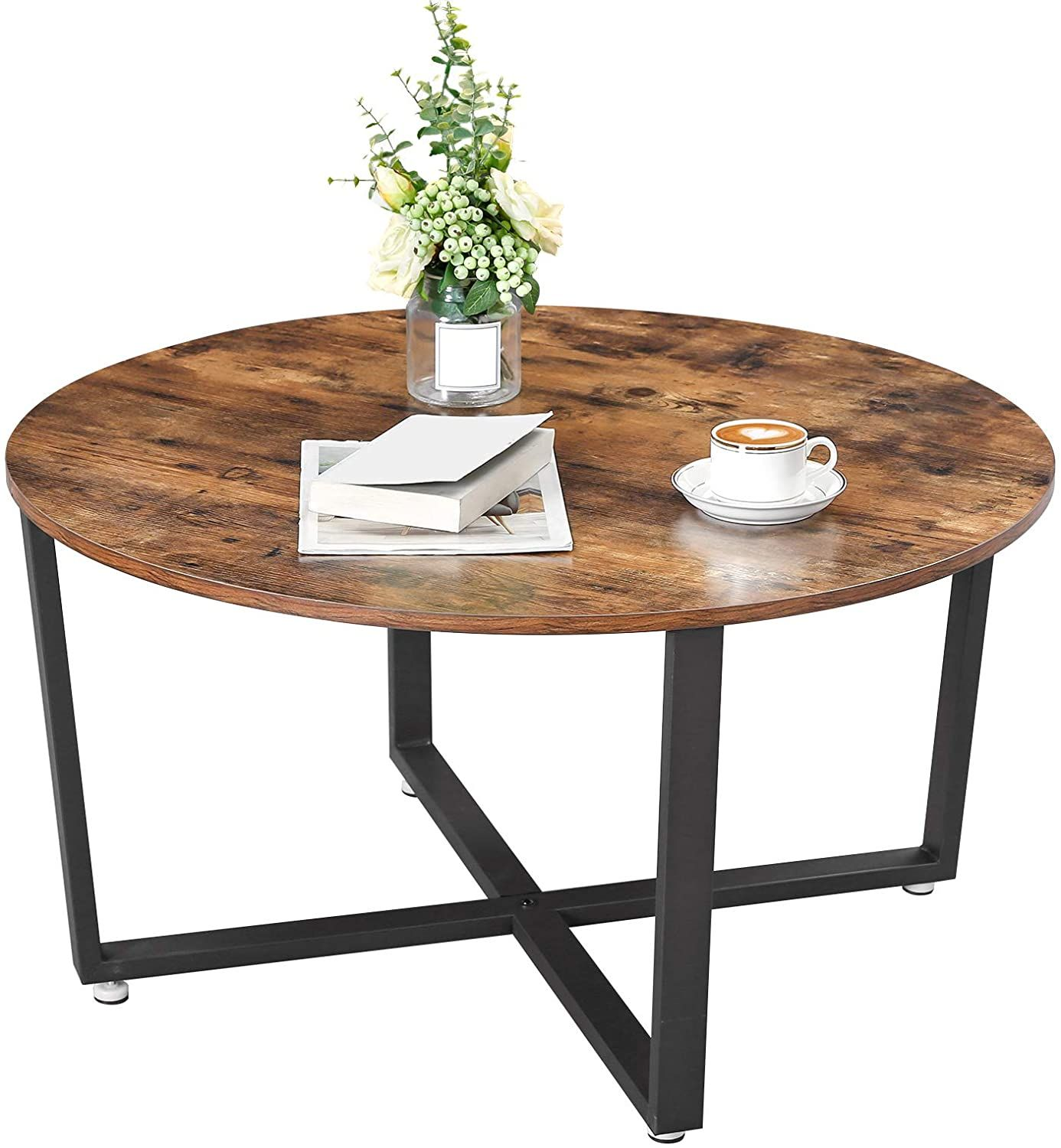 Ryan Round Coffee Table Industrial Farmhouse Style In 2021 Coffee Table Round Coffee Table Round Wood Side Table [ 1500 x 1386 Pixel ]