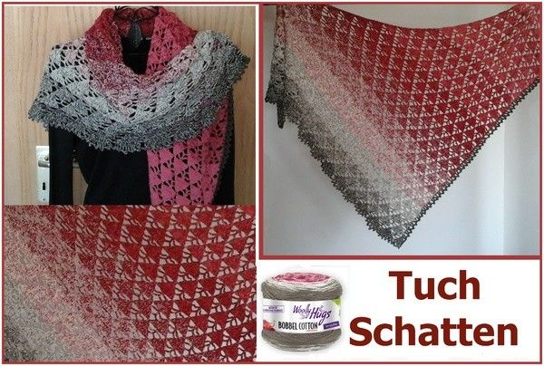 Tuch Schatten Mit 1 Bobbel Woolly Hugs Cotton Häkeln Crochet