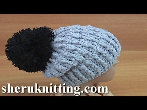 How to Crochet Beanie with Lapel Tutorial 167 Crochet Hats Pattern ...