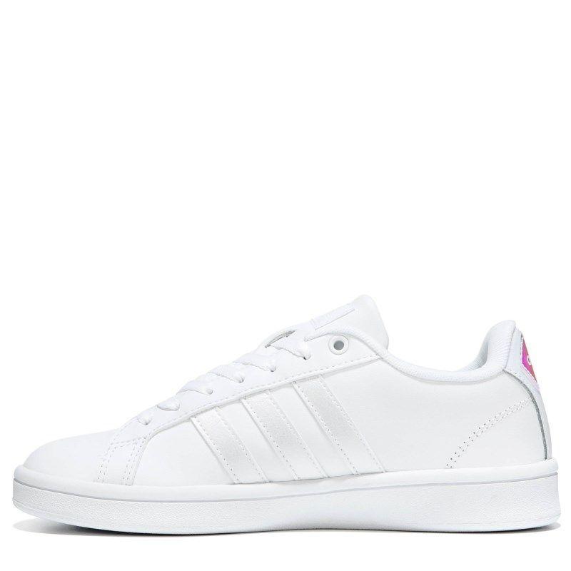 adidas donne cloudfoam vantaggio striscia sneakers (bianco / silver