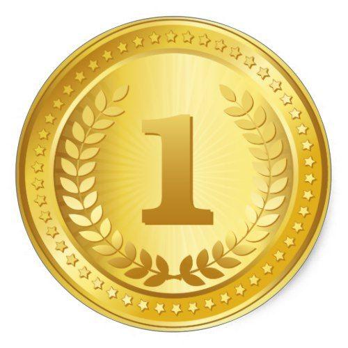 Gold Medal 1st Place Winner Sticker Zazzle Com Stiker Latar Belakang Desain Pamflet
