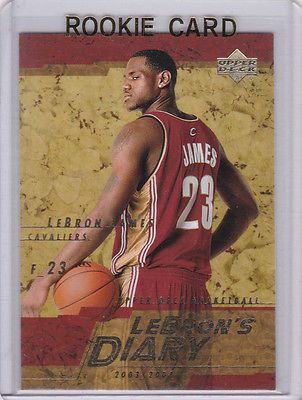 Lebron King James Nba Rc 1 Draft Pick Rookie Card Insert Diary Cavs Heat Le King Lebron James King Lebron Lebron James Rookie